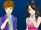 Color Justin Bieber and Selena Gomez